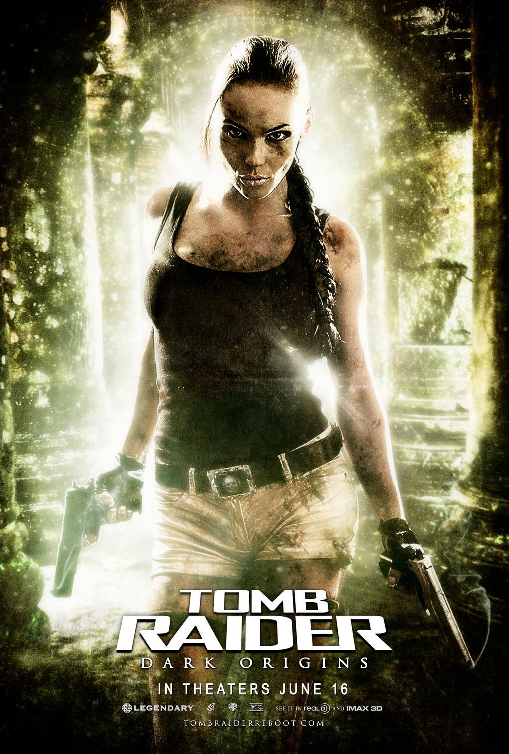 tomb raider dark origins reboot movie poster by rcrain98