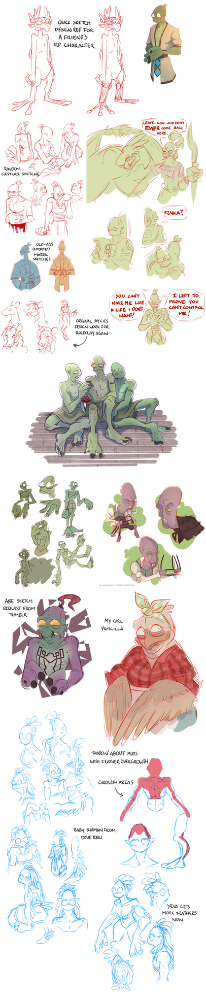 oddworld sketchdump 2: electric boogaloo by reckingstacks