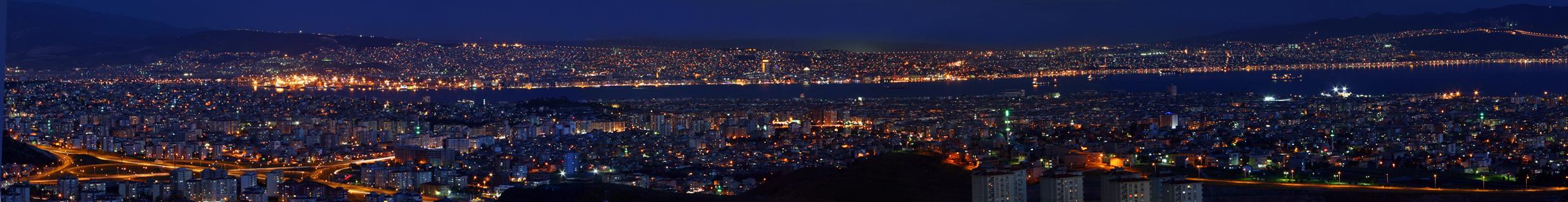 izmir night panorama by MehmetYasa