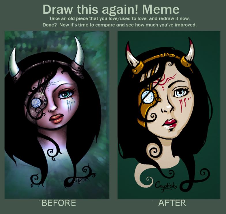 Draw this again Sad Steampunkette by Emystick