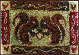 Squirrel's Gift punchneedle by asunnyspirit