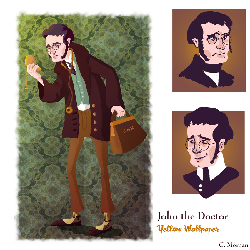 john in the yellow wallpaper The yellow wallpaper by charlotte perkins gilman t his week we read the yellow wallpaper john's solution is to rent a house for 3 months.