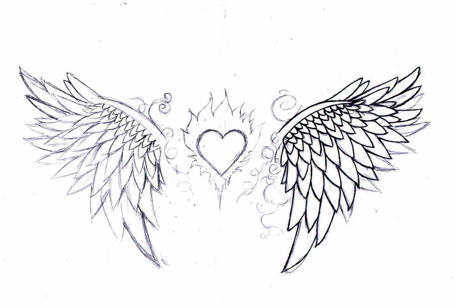 wip angel wings tattoo design by born2art on deviantart. Black Bedroom Furniture Sets. Home Design Ideas