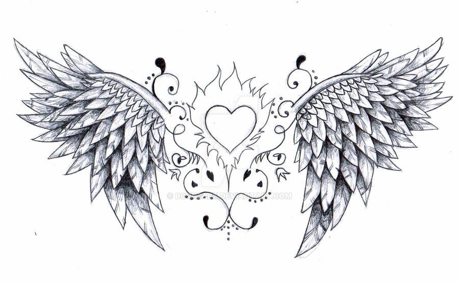 angel wings tattoo design by born2art on deviantart
