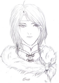 Son of Snow Wolf Clan - sketch