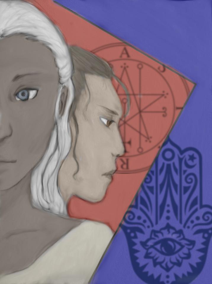 Esha and Mainyu by Mondlied