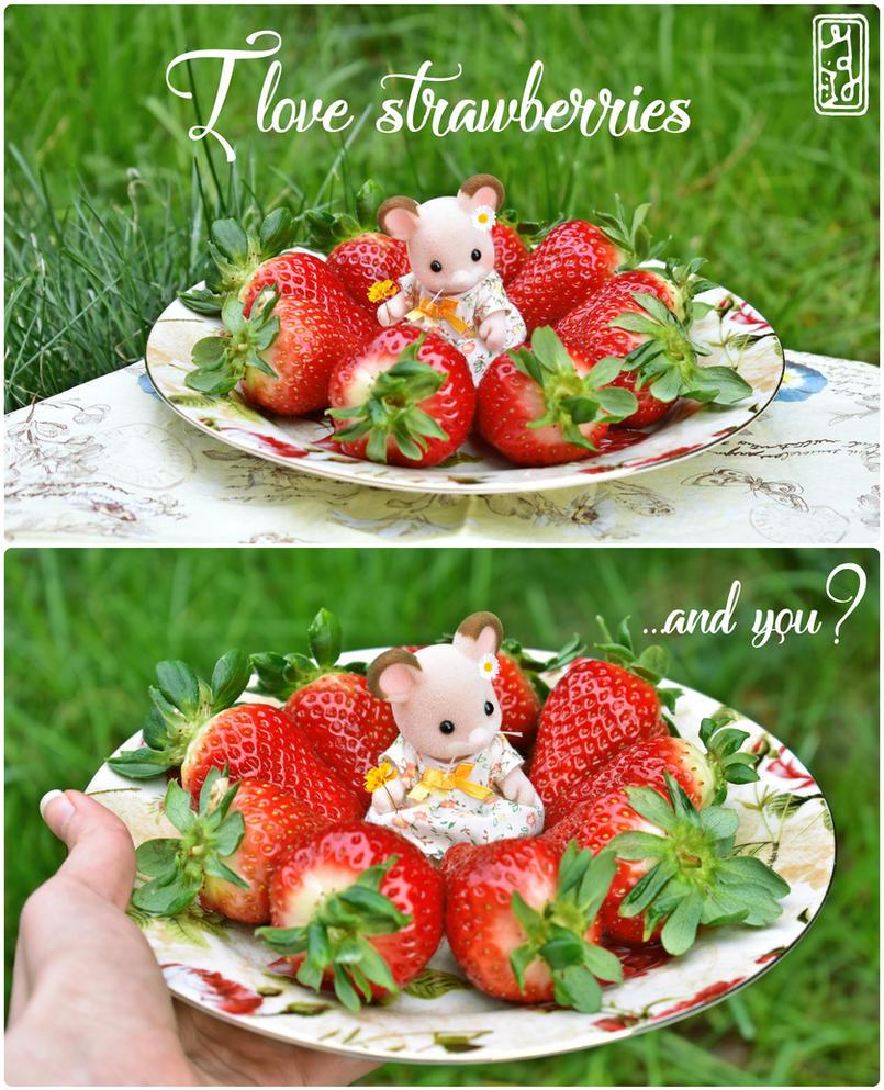 I love strawberries by MaryMiao
