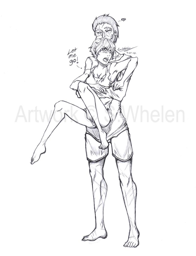 Anime Couple Hug Drawing Sketch Coloring Page