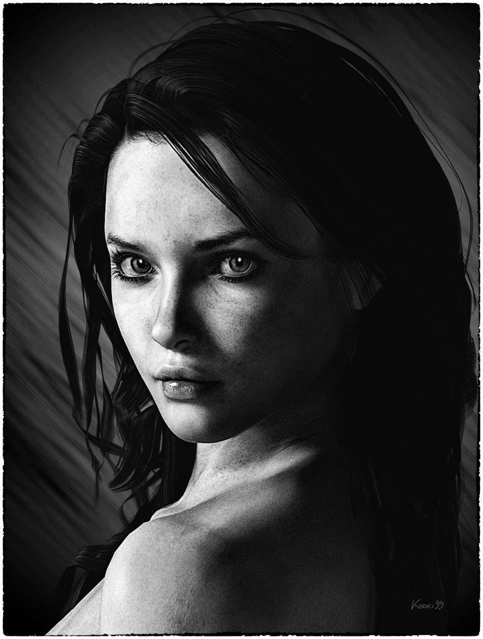 high contrast portrait by kooki99 on deviantart