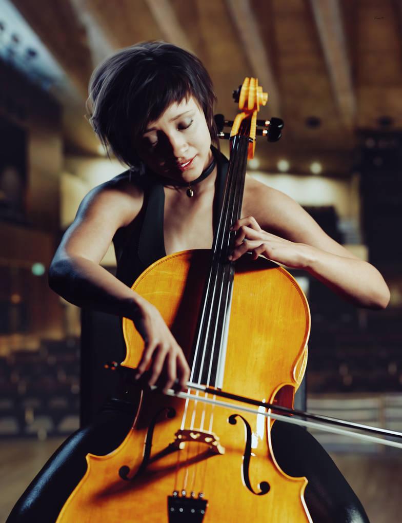 Cello Practice by Kooki99