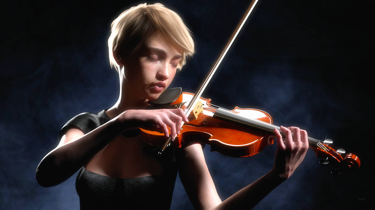 Violin Practice by Kooki99