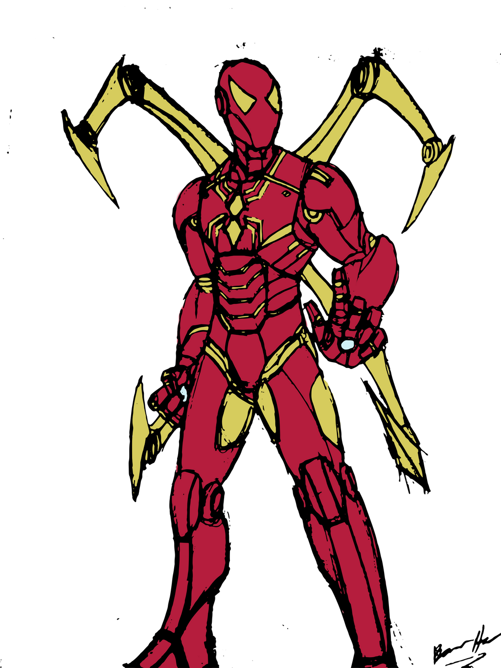 Iron spider color request by edcom02 on deviantart for Iron spiderman coloring pages
