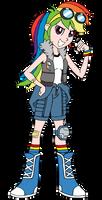 Spiders and Magic - DOFP Rainbow Dash (Human)