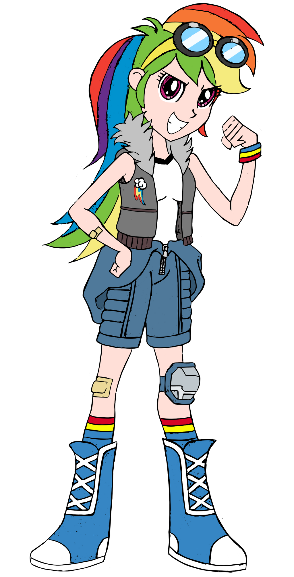spiders and magic dofp rainbow dash human by edcom02