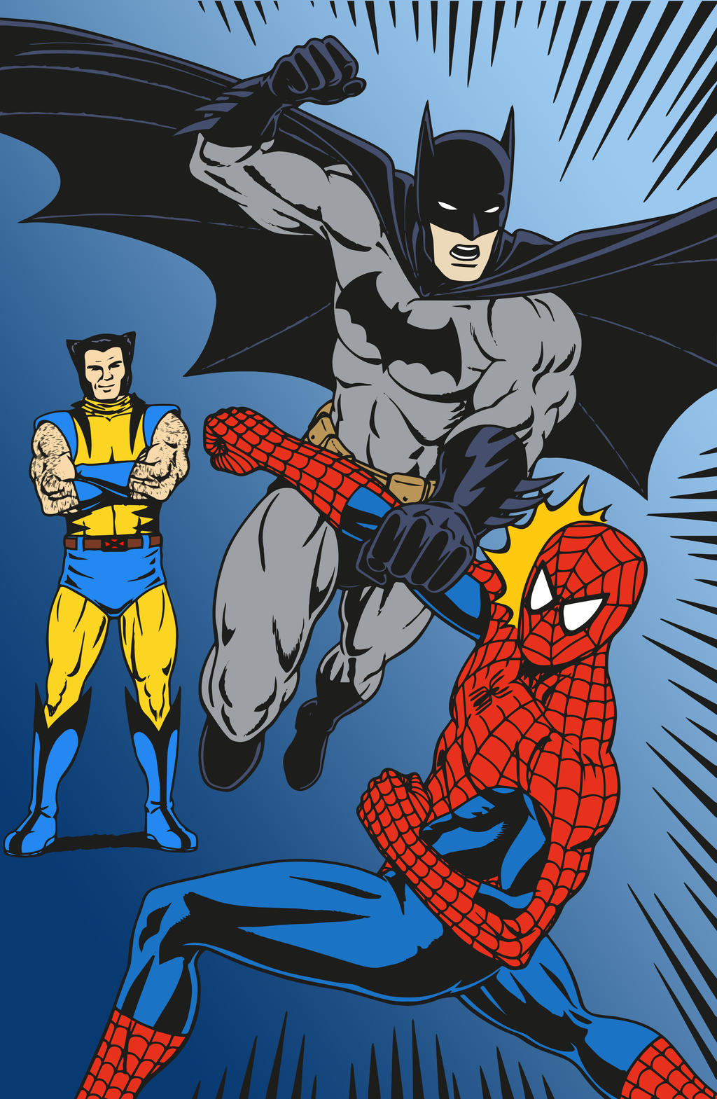 compare and contrast batman spiderman Batman vs superman comparison dc comics superheroes batman and superman were both created in the 1930s while batman has no superpowers  compare anything.