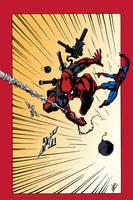 Deadpool vs. Spider-Man (Colored) by edCOM02