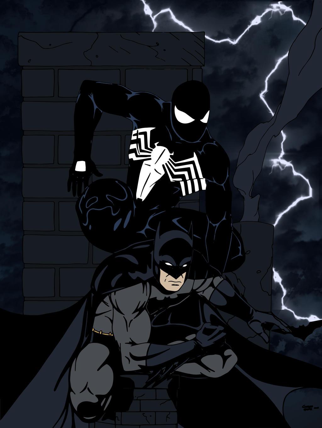 Batman and Black Suit Spider-Man II by edCOM02 on DeviantArt