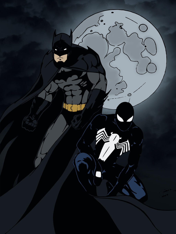 Batman and Black Suit Spider-Man by edCOM02 on DeviantArt