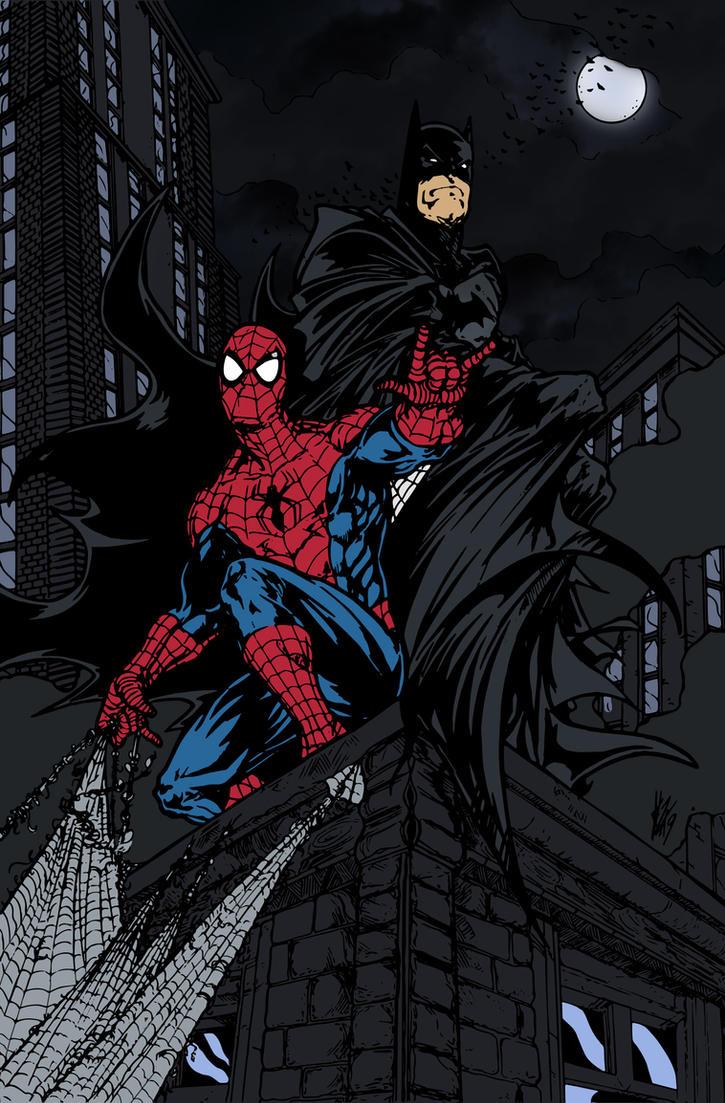 Batman and Spider-Man by Elvin Hernandez by edCOM02