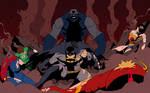 Darkseid v Justice League (Colored)