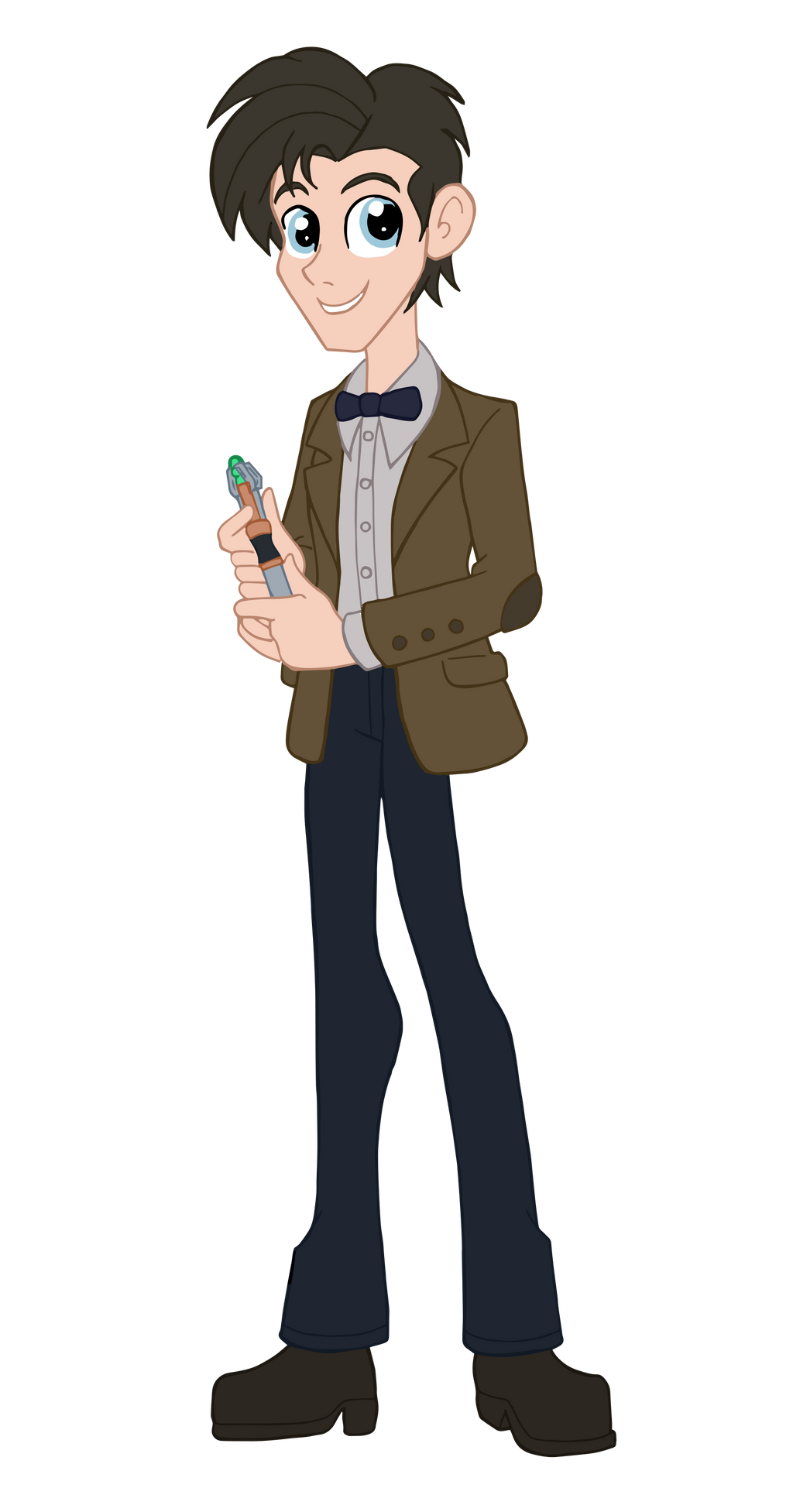 equestria girls doctor who eleventh doctor by edcom02 on