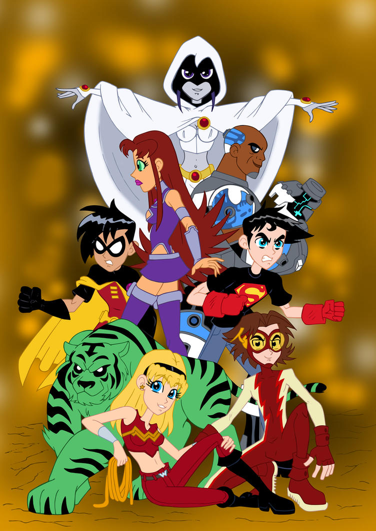 The New Teen Titans by edCOM02