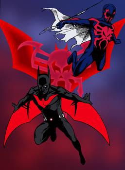 Batman Beyond and Spider-Man 2099