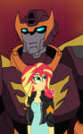 EG/Transformers: Sunset and Rodimus