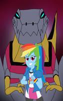EG/Transformers: Rainbow and Grimlock by edCOM02