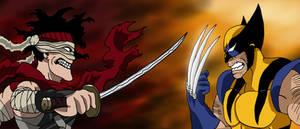 The Hero Killer vs. The Wolverine by edCOM02