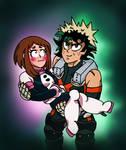 Katzuku and Ochako - I've got you, Round Face