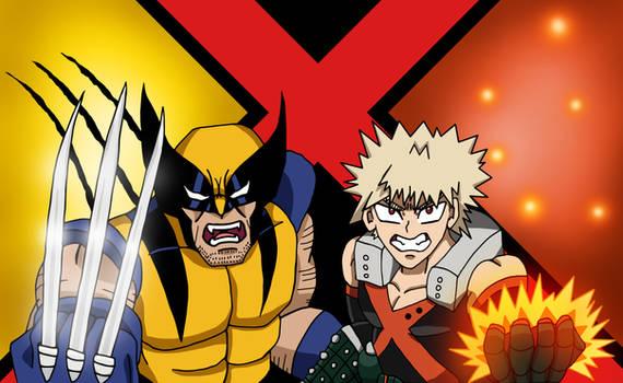 MHA/X-Men - Bakugou and Wolverine