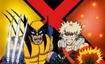 MHA/X-Men - Bakugou and Wolverine