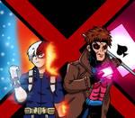 MHA/X-Men - Todoroki and Gambit