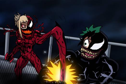 Venom-Deku vs Toga-Carnage by edCOM02
