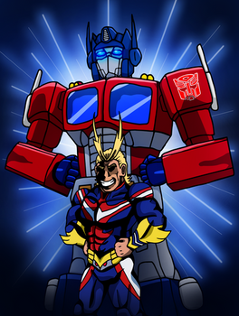 Symbols of Peace! All Might and Optimus Prime