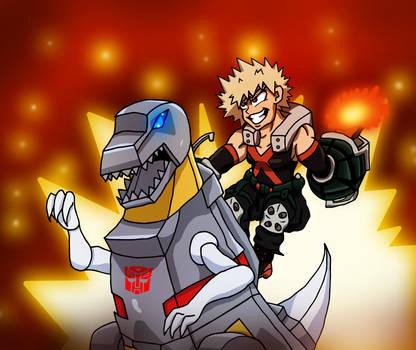 Hail to the Kings! Bakugou and Grimlock
