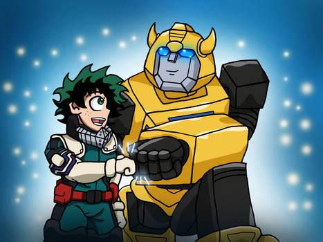 The Bravest Heroes! Deku and Bumblebee