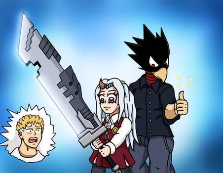Tokoyami and Eri - Sword Master and Student