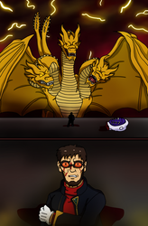 Gendo and King Ghidorah