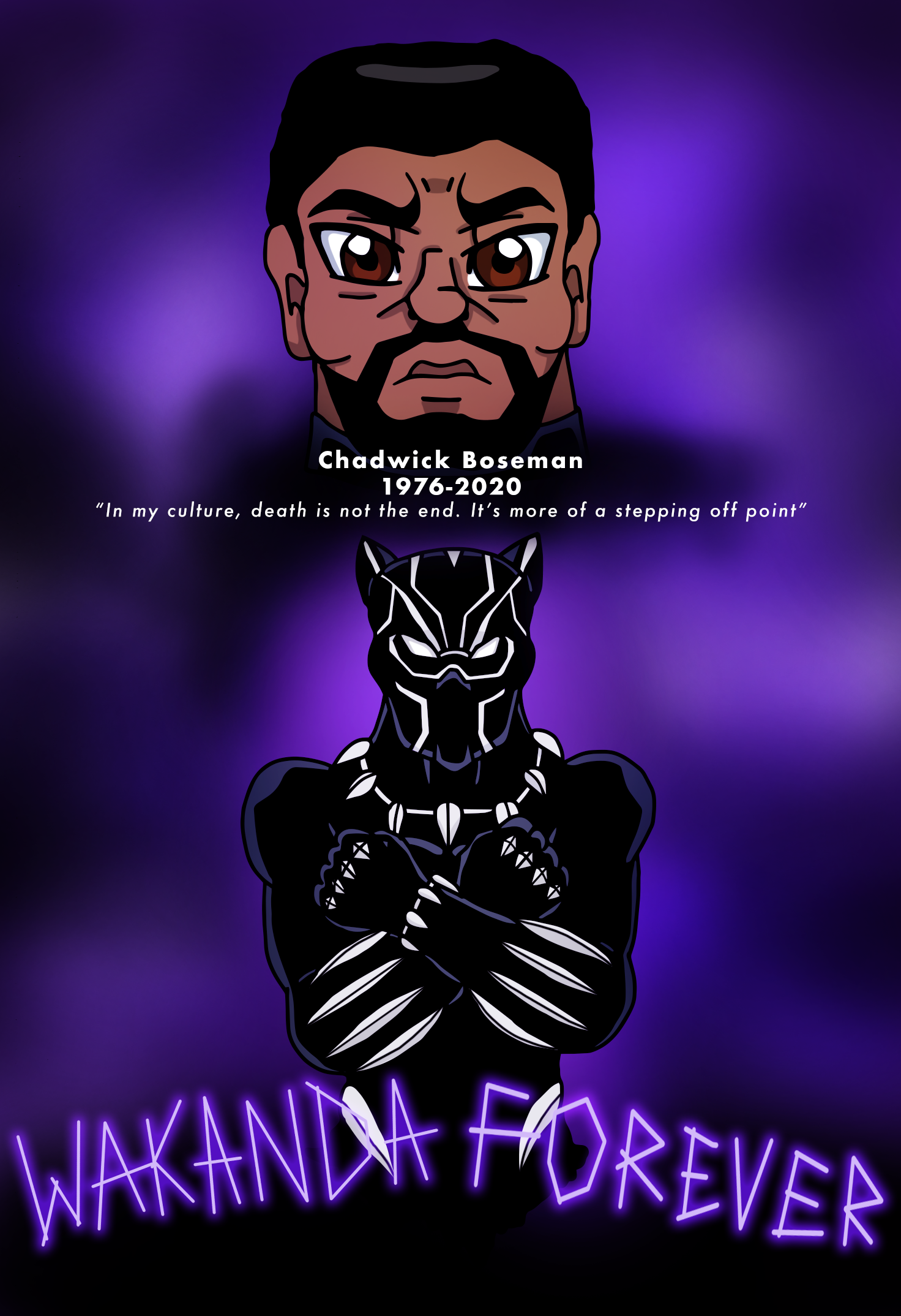 Wakanda Forever Tribute To Chadwick Boseman By Edcom02 On Deviantart