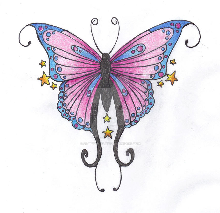 Pretty Butterfly Tattoo by 21-Butterflies on DeviantArt