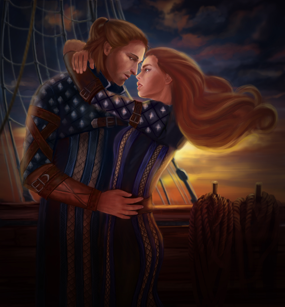 Anders and  Eloisa Cousland by WildBara