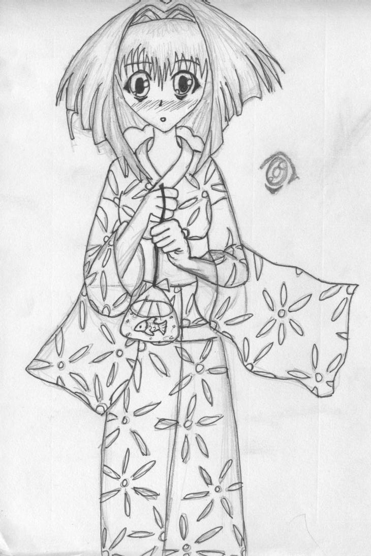 Karin in kimono by horsenmangasami