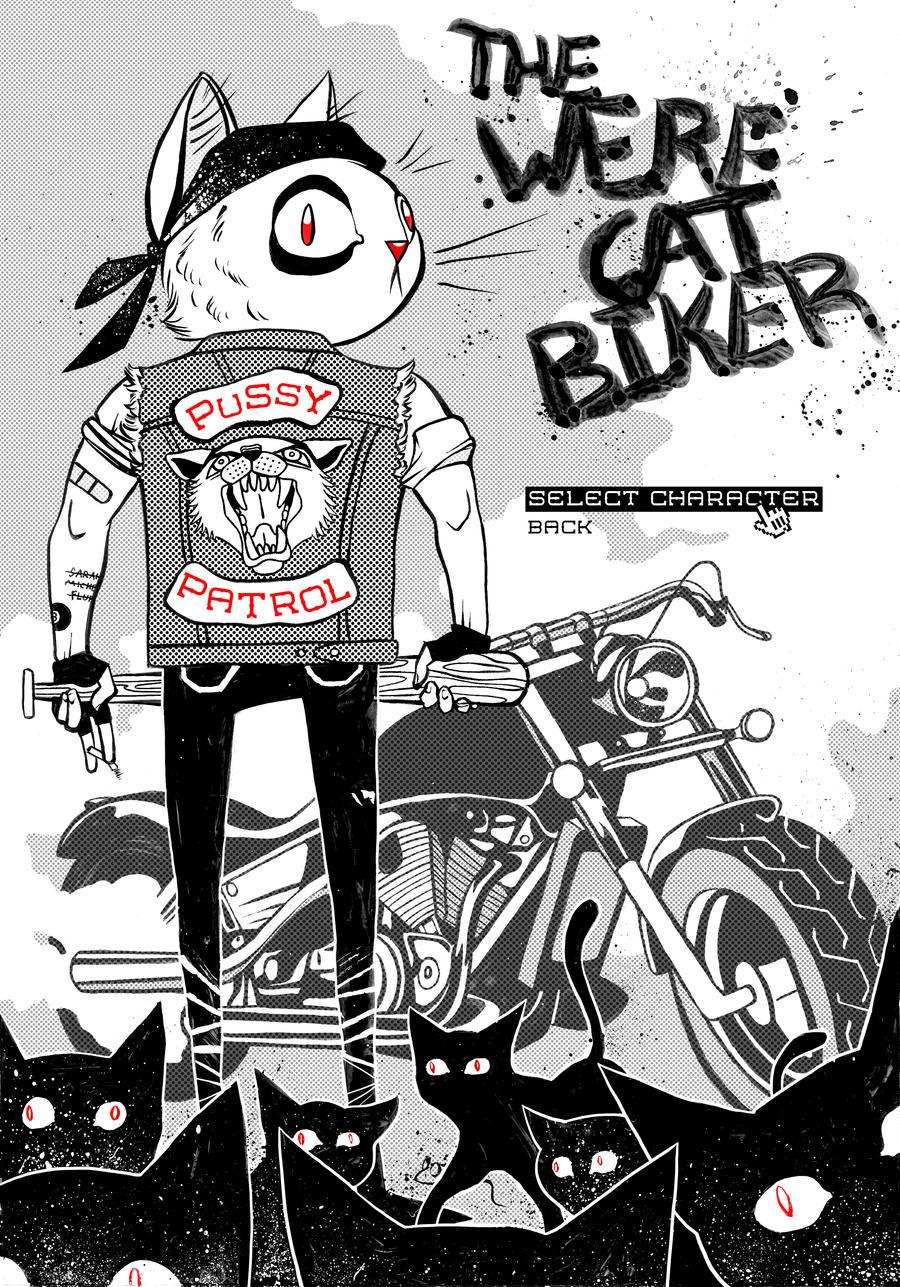 The Werecat Biker by OzyOxy
