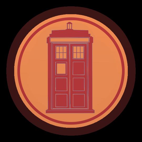 TARDIS Emblem RED by MarkUnread