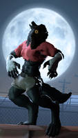 [SFM] Howling at the moon by Mark-Unread