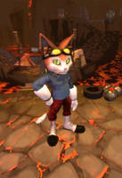 Down Into The Abyss of Time - Blinx Fanart by Mark-Unread