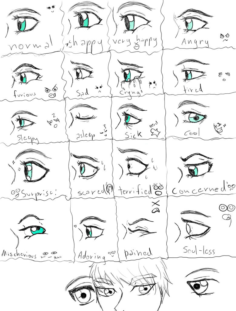 practicing eyes expressions by shylless on deviantart