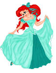 ariel her dress colord